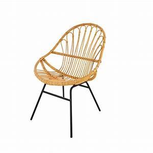 Fauteuil Rotin Maison Du Monde : fauteuil en rotin et m tal noir p tunia maisons du monde ~ Teatrodelosmanantiales.com Idées de Décoration