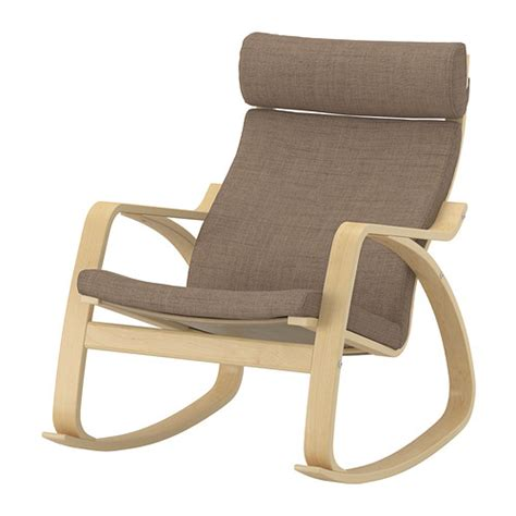 po 196 ng rocking chair isunda brown birch veneer ikea