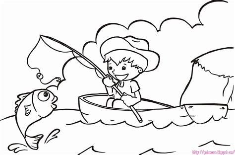 mewarnai gambar nelayan menangkap ikan