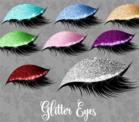 glitter eyes clipart princess makeup jewel clip art