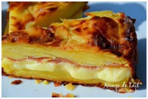 recette de cuisine avec pomme de terre gâteau invisible raclette nuage de lait