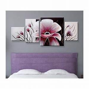 tableau triptyque pas cher mundufr With chambre bébé design avec fleurs vente en ligne