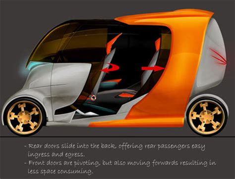 Twotwo, 2 Seater Electric Car That Transforms Into 4
