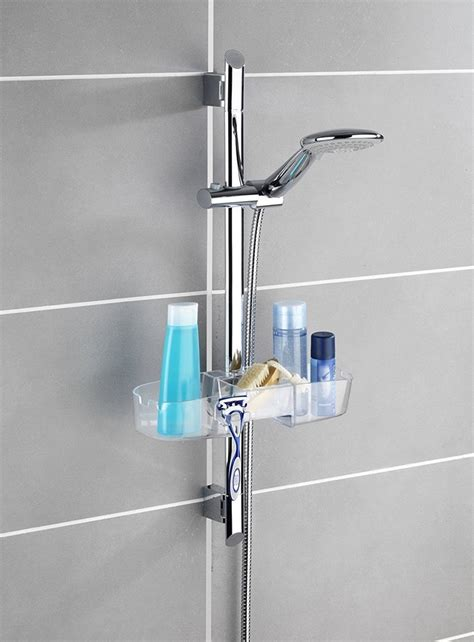 mensola doccia wenko mensola per asta doccia con 3 portasaponi e 2 ganci