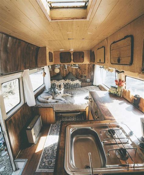 Skoolie Bus Conversion Decorating Ideas (6) ? Vanchitecture