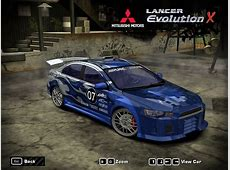Need For Speed Most Wanted Mitsubishi Lancer Evolution X