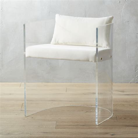 acrylic furniture antonio acrylic chair with pillow in accent chairs reviews cb2