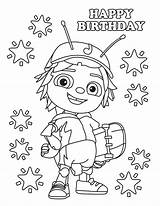 Bugs Beat Coloring Birthday Bug Jay Printable Printables Cartoon Happy Kleurplaat Romper Stuff Printablesbaby sketch template