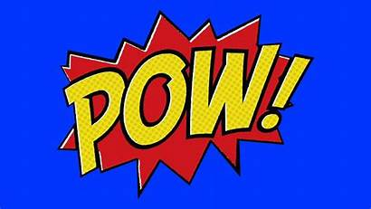 Comic Pow Batman Animation Background Screen Boom