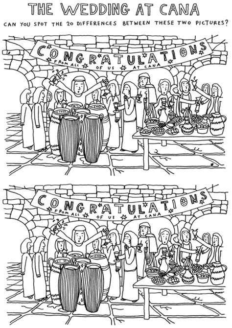 the wedding spot the wedding at cana 39 spot the difference 39 cartoonchurch