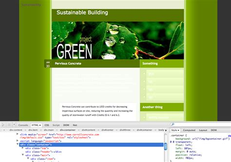 css div on top html css sheets container div background is