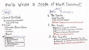 How to write a scope of work projectmanagercom for Scope documents project management