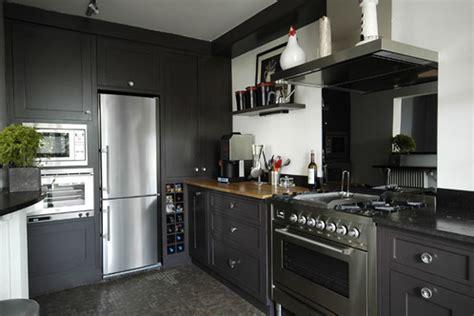 cuisine gris et noir cuisine noir et gris
