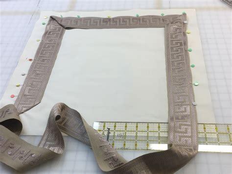 miter corners  sewing  tape trim