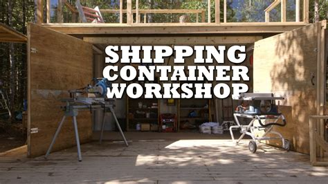 design a deck free shipping container workshop