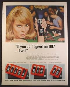 Magazine Ad for 007 Grooming Aids for Men, Woman If You ...
