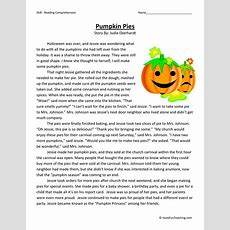 Pumpkin Pies Reading Comprehension Worksheet  Have Fun Teaching