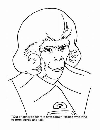 Apes Planet Coloring Cbt Cut