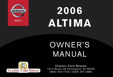 old cars and repair manuals free 2010 nissan sentra instrument cluster 2006 altima owner s manual