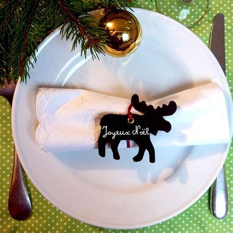 marque place noel personnalise decoration de table noel