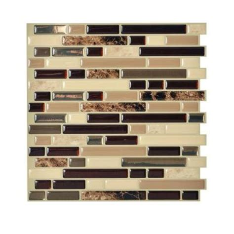 smart tiles 10 06 in x 10 00 in peel and stick mosaic