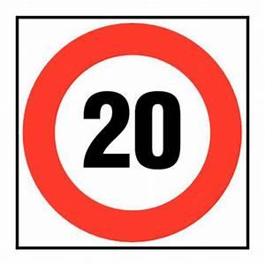 Excès De Vitesse De 20km H : panneau d 39 interdiction vitesse limit e 20 km h rigide ~ Medecine-chirurgie-esthetiques.com Avis de Voitures