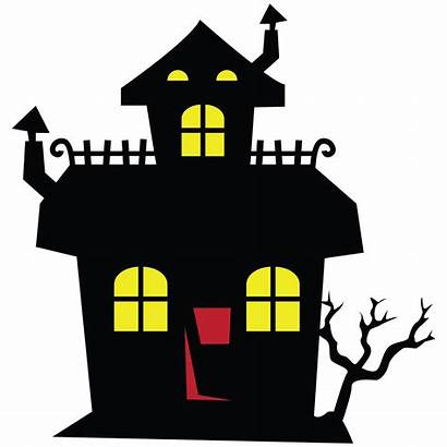 Haunted Halloween Clipart Cartoon Mansion Spooky Castle