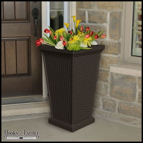 tall outdoor planters ideas  pinterest front