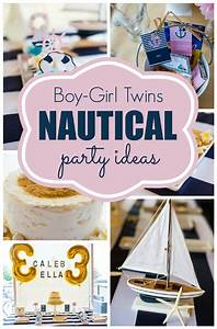 Twins Nautical Birthday Party - Pretty My Party