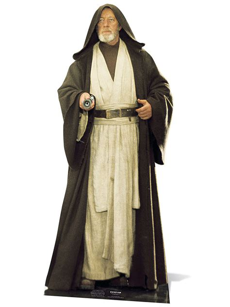 white robes for sale obi wan kenobi alec guiness cardboard cutout wars