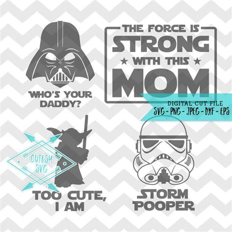 Low to high sort by price: Star Wars Family SVG Disney Digital file Silhouette Studio ...
