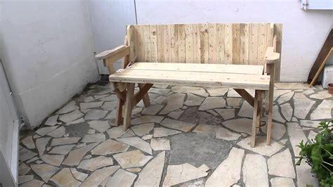 fabriquer chaise en bois banc table convertible 2 en 1 avec plan
