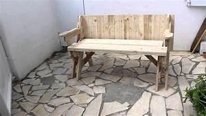 banc table convertible 2 en 1 avec plan youtube With chaise pour table en bois