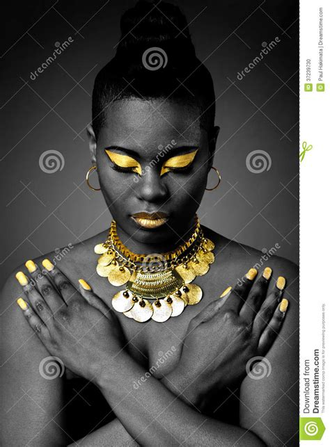african tribal  gold stock photo image