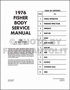 1976 Pontiac Body Manual Bonneville Catalina Grandville