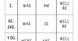 Verb Conjugation Chart Esl Grammar Pinterest