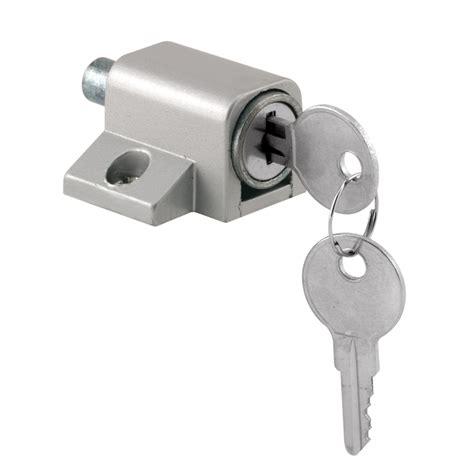 patio door locks shop gatehouse push in keyed sliding patio door cylinder lock at lowes