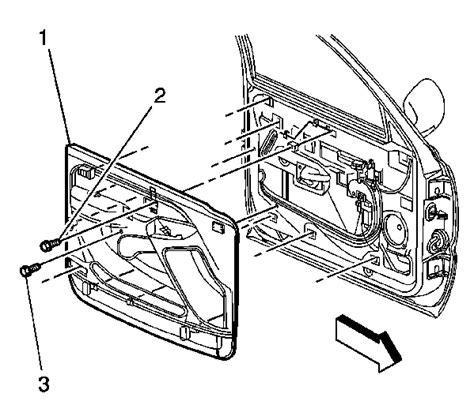service manual    remove door panel driver side