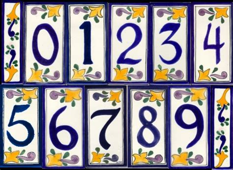 Mexican Tile House Numbers With Frame by House Number Tile And Frames Accentslatin Accents