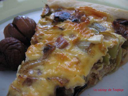 cuisiner chataignes fraiches tarte d automne poireaux et chataignes cuisine de tantine