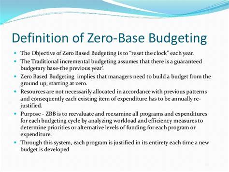 based budgeting