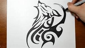Cool Tribal Wolf Drawings | www.pixshark.com - Images ...