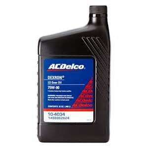acdelco sae 75w 90 dexron ls gear oil ebay