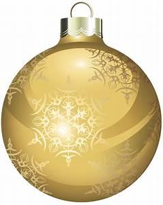 Gold Christmas Balls Clipart