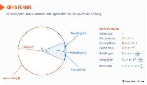kreisberechnung  kreisflaeche kreisumfang