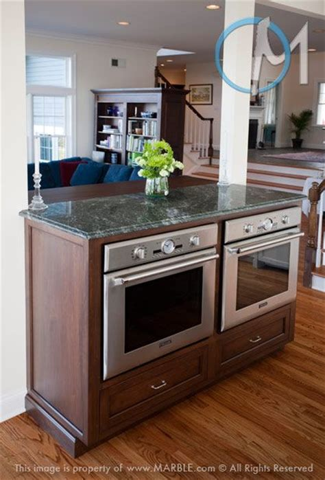 kitchen island with oven side by side oven in an island hmmm maybe just the