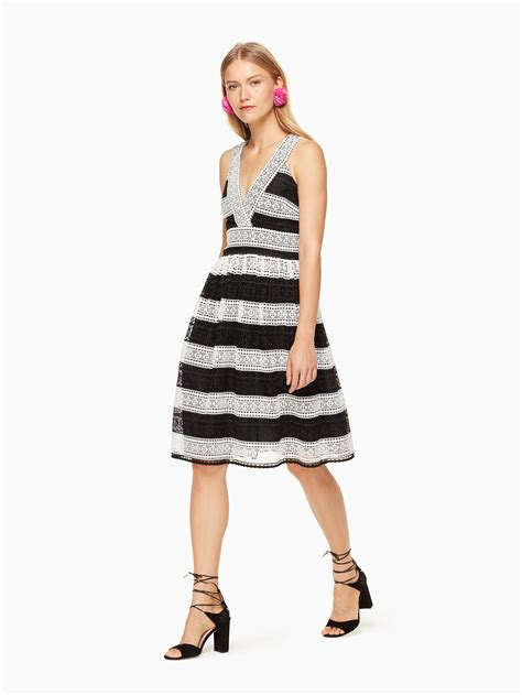 kate spade color block dress lyst kate spade new york colorblock lace dress in black