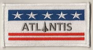 NASA Space Shuttle Atlantis OV-104 Embroidered Flag Patch
