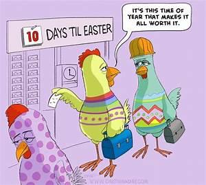 Happy Easter Cartoon Easter Eggs Cartoon