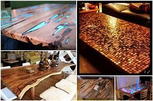 Epoxidharz Tisch Anleitung : 5 au ergew hnliche tischplatten f r industrielle tischgestelle projekte was werden sie bauen ~ One.caynefoto.club Haus und Dekorationen